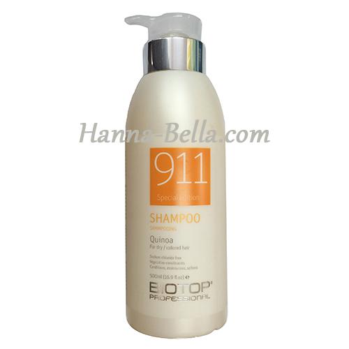 Buy Quinoa Shampoo 911, Biotop 1000ml Without Intermediaries
