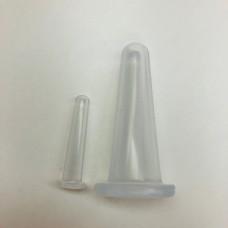 Силиконовые массажные банки для лица комплект из 2 шт., Silicone Vacuum cans for facial massage Set of 2 pieces